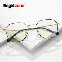 1d5f7c0dbdd Brightzone Multilateral Metal New Ladies Clear Glasses Men Women Myopia  Anti Blue Light Male Spectacle Square Eyeglass Frames