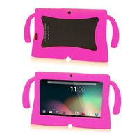 Wholesale kids android tablet case - Colorful Big kawaii Ears Series Safety Soft Silicone Gel Cover Case for Q88 7 Inch Android Tablet PC Cases universal Kids Children