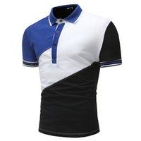 erkek moda giysileri toptan satış-Marka Giyim Yeni erkek Gömlek Kısa Kollu Erkekler Pamuk Katı Casual gömlek Erkekler Patchwork Moda Slim Fit