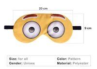 Wholesale cover girl eye - Hot selling 3D printing Long eyelashes Travel Rest EyeShade Sleeping Eye Mask Cover Girl Eyepatch Blindfolds Goggles Health Care emoji