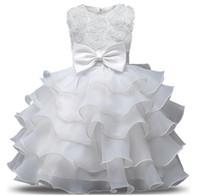 geburtstags-outfits für mädchen großhandel-Blumenmädchen Kleid für Hochzeit Baby Mädchen 0-10 Jahre Geburtstag Outfits Kinder Mädchen Erstkommunion Kleider Mädchen Kinder Party Ballkleid