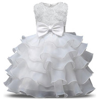 Wholesale first communion american girl - Flower Girl Dress For Wedding Baby Girl 0-10 Years Birthday Outfits Children's Girls First Communion Dresses Girl Kids Party Ball Gown