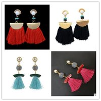 Wholesale united states decorations for sale - Group buy 2 styles Europe and the United States retro fan earrings fashion short paragraph tassel earrings earrings new female decorations