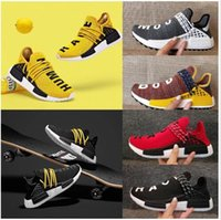 Wholesale womens size 11 shoes for sale - 2018 Human Race Men Women Running Shoes Pharrell Williams White Blank Human Races Mens Womens Trainers Zapatos Sports Sneakers Size