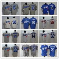 Wholesale la dodgers - Men's Women Youth LA Dodgers Baseball Jersey #10 Justin Turner 16 Andre Ethier 31 Joc Pederson 32 Sandy Koufax 14 Throwback Baseball Je
