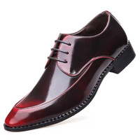 Wholesale career 14 - New Designer Red Men Wedding Dress Shoes Fashion Pointed Toe Brush Color Lace Up Silver Party Leather Shoes Plus Size 13 14