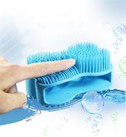 Wholesale massage shower head brush - Ultra Soft Silicone Adult Baby bath shower Massage Brush Head Body Massager Washing Comb Shower Bath SPA Body Brush