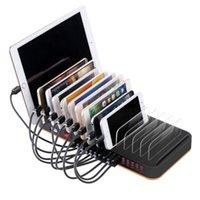 iphone puerto usb cargador de pared au al por mayor-15 puertos multi USB estación de cargador rápido cargador de pared USB 5V 20A Tablet PC Computadora Adaptador de cargador de escritorio de CA 100-240V