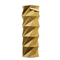 ingrosso sacchetti di regalo pieghevoli-Borse di stoccaggio di carta kraft creativa pieghevole telescopico vino rosso regalo shopping bag rotondo tote sacchetto di alta qualità 7 2dn B