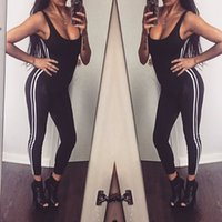 98bd38c21fd Deep O Neck Open Back Bodycon Jumpsuit Long Pants Tank Skinny Sexy One  Piece Outfits Rompers Summer 2018 Striped Print Overalls