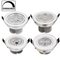 meilleurs luminaires encastrés achat en gros de-meilleur prix CREE 3W 9W 12W 15W 21W encastré à LED downlight dimmable AC120V 240V éclairage intérieur froid / pur / chaud blanc