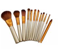 ingrosso spazzole di trucco-Tamax Beauty Hot Professional 12 PCS Pennello per trucco Cosmetico per il viso Pennello per trucco Pennelli per trucco Set di corredi con scatola al minuto