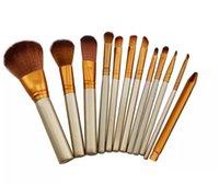 12 pcs bürsten professionell großhandel-Tamax Beauty Hot Professionelle 12 STÜCKE Make-up Pinsel Kosmetik Gesichts Make-up Pinsel Werkzeuge Make-up Pinsel Set Kit mit Kleinkasten