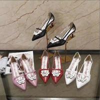 4807e26b0732af Matrimonio Bella signora abito scarpe rosso rosa bianco nero moda gattino  tacco a punta sandali Design Marca Lady bowtie cover tacco sandalo