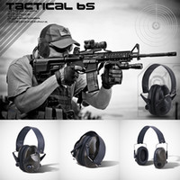 auriculares tácticos airsoft al por mayor-TAC 6s Tactical Hunting Headset Protector de Reducción de Ruido Gear Rifle Airsoft Auriculares Auriculares Aislamiento de Sonido Auriculares Tactical