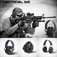 headsets airsoft großhandel-TAC 6s Tactical Jagd Headset Noise Reduction Protector Getriebe Gewehr Airsoft Kopfhörer Kopfhörer Schalldämmung Tactical Headset