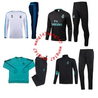 Wholesale soccer trainning - 17 18 real madrid tracksuit training suit sweater long pants 2017 2018 real madrid trainning sweater top set jacket RONALDO