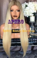 """Wholesale Ombre Glueless Silk Top Wigs - Luxury Quality Blonde Full Lace Silk Top Glueless Wigs with Amazing Roots 5x5 inch 20""""-30"""" 180% Density Straight Ombre Wigs for White Women"""