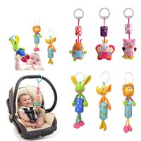Wholesale baby chime rattles resale online - High Quality Baby Toy Bed Hanging Plush Doll Bell Wind Chimes Animal Wind Chime Rattles Infant Early Development Toy E1283