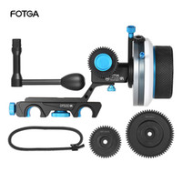 Wholesale 15mm Rod Rig Handles - FOTGA DP500III Follow Focus FF A B Hard Stop with Speed Crank Handle 0.8m Gear Set for 15mm Rod Rig Video Film Making System