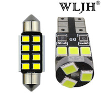 Wholesale Door Light Kits - WLJH 18x Canbus Dome Map Glove Box Door Footwell Cargo Bulb Lighting Package Interior Led Kit for Volkswagen Touareg 1 Touareg 2