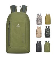 Wholesale rear panniers - 10L Ultra Light Unisex Outdoor Camouflage Backpack Travel Bag Hiking Cycling Gym Rucksack Leisure Satchel Bag 12 Colors DDA729