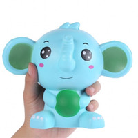 Wholesale music arts for sale - Blue Elephant Model Squishy Decompression Toy Pu Simulation Soft Arts And Crafts Imilation Slow Rebound With Fragrance Toys mz W