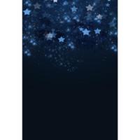 живописный муслиновый фон оптовых-Ночное небо фотографии фонов звезды черный винил фоны для фотостудии свадебные фотографии Baby Shower новорожденных детей