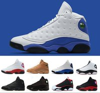 Wholesale chicago 13 - 13 basketball shoes hyper royal He Got Game Altitude Wheat Bred DMP Chicago black cat mens 13s trainers Sports Snerkers size 8-13
