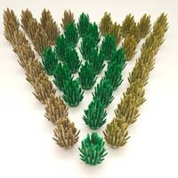 Wholesale toy city buildings - DIY Mini Bush Trees Green Plants Building Blocks Bricks City Figure Accessories Action Figure Toy For Children