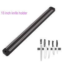 13 inç bıçaklar toptan satış-Metal Bıçak İçin D010 FINDKING Yüksek Kaliteli 13 inç Manyetik Bıçak Tutucu Duvar Montaj Siyah ABS Plastik Blok Mıknatıs Bıçak Tutucu