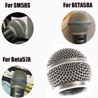 micrófono 58lc al por mayor-Reemplazo profesional Rejilla de micrófono de cabeza de bola para BETA58 SM 58 SM 58S SM 58LC beta57