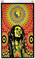 Wholesale Posters Banners - Digital printing 3x5ft BOB Marley Poster Flag 90x150cm Polyester Hippie True Lengend Reggae Rasta Music Festival Wall Hanging Fabric Banner