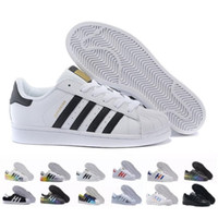 Wholesale leather sport shoes women resale online - Superstar White Black Pink Blue Gold Superstars s Pride Sneakers Super Star Women Men Sport Casual Shoes EU SZ36