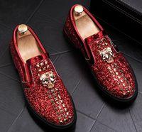 модные бахилы оптовых-Европейская станция мужская обувь модный человек заклепки яркий срез любовь бахилы педали досуг обувь ленивый человек обуви 38-43a17