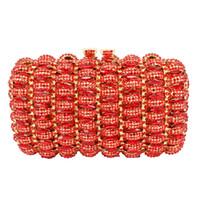 сумочки прямоугольные оптовых- Women Bridal Line Shaped Rectangle Wedding Crystal Clutch Evening Bags banquet handbags prom bag Factory Wholesale 88276