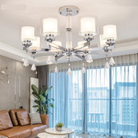 Wholesale crystal light shades for sale - Group buy Modern fashion luxury crystal LED Chrome color metal Chandeliers Lighting chandelier Pendant double glass shade Fixture Lamp For indoor room