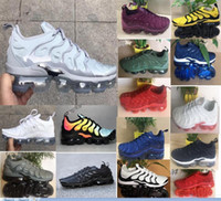 Wholesale wrestling shoes for sale for sale - Group buy 2018 New TN Plus In Metallic Black White Olive Men Mens Running Shoes for sale Designer Luxury Shoes Athletic Sneakers Trainers