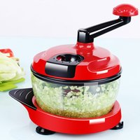 Wholesale Cooking Mixers - Multifunction Food Processor Kitchen Manual Food Vegetables Chopper Cutter Mixer Salad Maker Eggs Stirrer Kitchen Cooking Tools