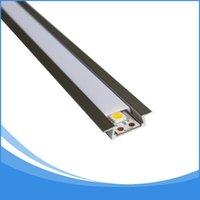 iluminación de tira de aluminio al por mayor-40 UNIDS 2 m de longitud llevó barra de luz de aluminio, disipador de calor, tira de aluminio, canal de aluminio, alojamiento Artículo No. LA-LP06