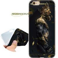 iphone 4s altın kılıf toptan satış-Conor McGregor Altın King Shell Kılıflar iPhone için 10 X 7 8 6S 6 Plus 5S 5 SE 5C 4S 4 iPod Touch 6 5 Şeffaf Yumuşak TPU Silikon Kapak.