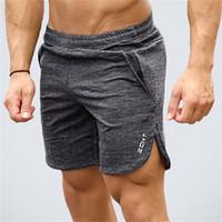 шорты мужские бег трусцой оптовых-Mens gym cotton shorts Run jogging sports Fitness bodybuilding Sweatpants male profession workout Crossfit Brand short pants