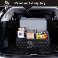 Wholesale Practical Foldable Storage Box Cars Interior Accessories Save Space Car Trunk Organizer Black White Line Black Red Line Brown White Line