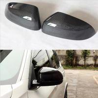 ingrosso bmw f25-1: 1 Sostituzione 3D adesivo stile fibra di carbonio vista laterale copertura dello specchio Trim per BMW X3 F25 X4 F26 X5 F15 X6 F16