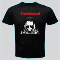 Wholesale buy white tees online - Buy Shirts Novelty Men Crew Neck Short Sleeve The Weeknd Tees