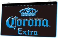 corona bar lichter großhandel-[F145] Corona Extra Beer Bar Pub-Café NEUES 3D-Gravur-LED-Lichtzeichen Passen Sie auf Anfrage 8 Farben an