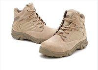 yarda botları toptan satış-2016 Marka kaymaz nefes Taktik Delta Ordu Savaş Botları Boyutu 39-45 Yard Açık Seyahat Yürüyüş erkek Ayakkabıları