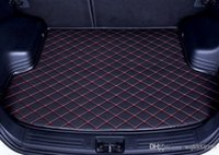 Wholesale trunk liner carpet resale online - Custom fit car trunk mat for Ford Edge Escape Kuga Fusion Mondeo Explorer Focus Fiesta car styling tray carpet cargo liner