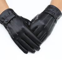 Wholesale iphone keep - Mittens Keep Warm Winter Gloves Driving Men's Leather Gloves Touch Screen for Iphone for Sumsung Smart Phone ipad