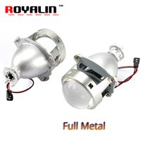 Wholesale bi xenon projector headlights for cars for sale - ROYALIN Car styling HID H1 Bi Xenon Headlight Projector Lens Inch Full Metal LHD RHD for H4 H7 Auto Light Retrofit